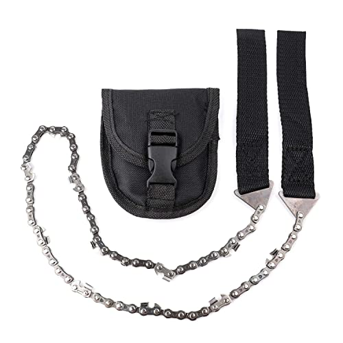 Portable Outdoor Emergency Tool Pocket Survival Chain Saw Black Hand Chainsaw DP