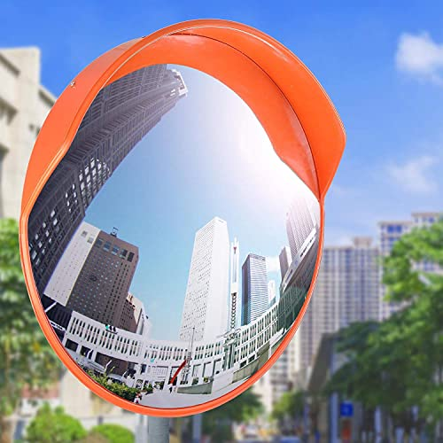 Unbreakable Road Safety Wide Angle Traffic Mirror Blind Spot Security Mirror with Mounting Hardware Accessories for Road Driveway Safety and Shop Security Convex Traffic Mirror 12inch