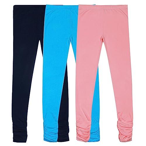 Olgaa 8 Colors Girls Capris Cotton Leggings Summer Cotton High Waist Slip Capris Crop Smooth Leggings for Girls Women
