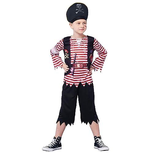 Buccaneer Vest Caribbean Pirate Black Fancy Dress Up Halloween Costume Accessory