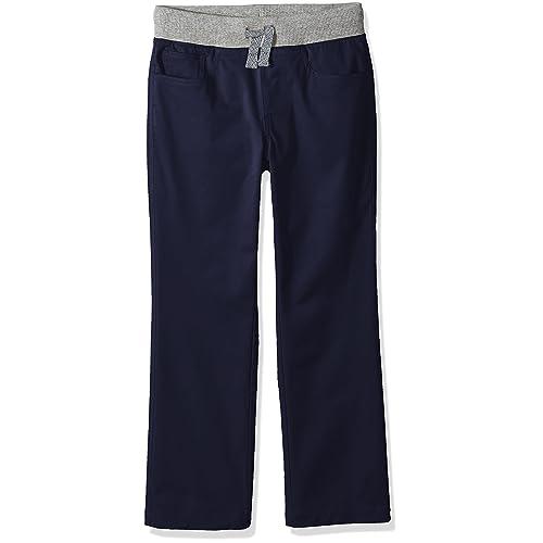 Phorecys Boys Cotton Pants Drawstring Elastic Sweatpants