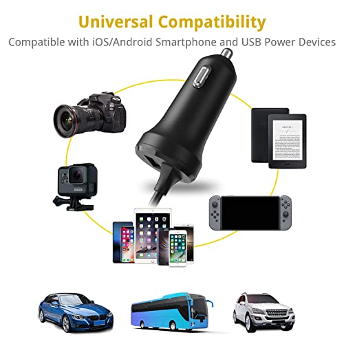 UNBREAKcable Apple Car Charger Adapter with Lightning Cable iPhone Car Chargers MFi Certified Compatible with iPhone 11//11 Pro// 11 Pro Max//X//XS//XS MAX//XR//iPad 5V 2.4A