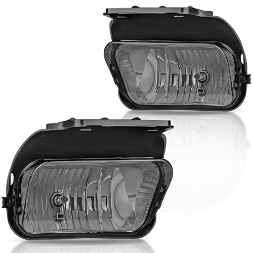 AUTOWIKI Fog Lights for 2003-2007 Chevy Silverado// 2002-2006 Chevy Avalanche With Clear Lens 2PCS Without Body Cladding