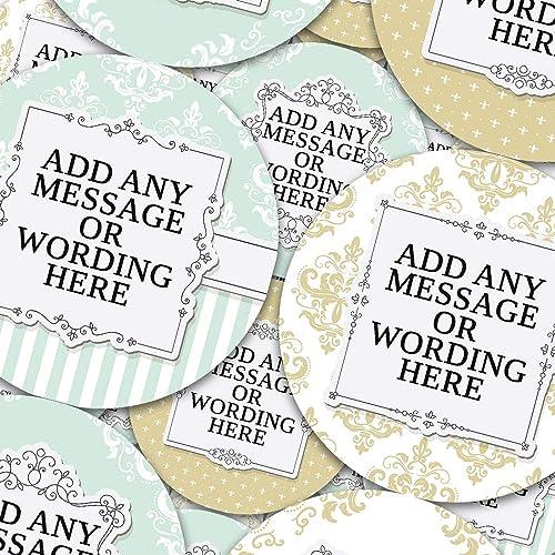 6 Stickers @ 9.5cm Parents Children Chunky Hamster Handmade With Love Vintage Chalk Retro Gold Glitter Teachers Reward Sticker Labels