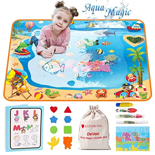 Girls Boys Age 2 3 4 5 Large Water Drawing Mat Toy Gift Mess Free Doodle Mat