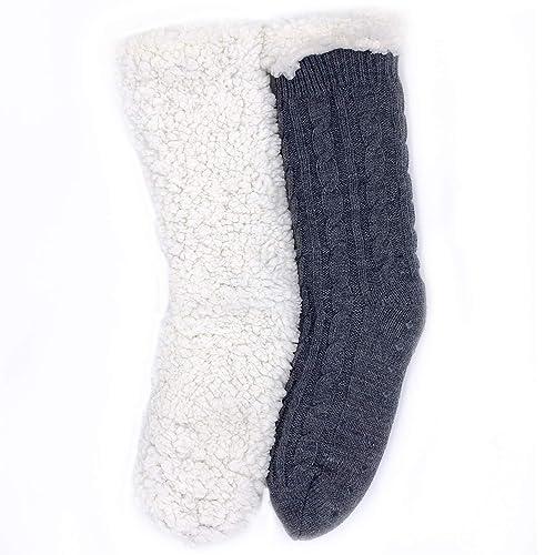 3 Pairs Men Lounge Socks  Thick Non Slip Rubber Grip Colourd Size 6-11 UK