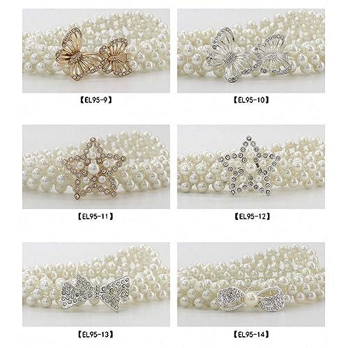 Gomerbesen 2 Pcs Fashion Womens Metal Waist Belt Multi Layer Waistband Chains