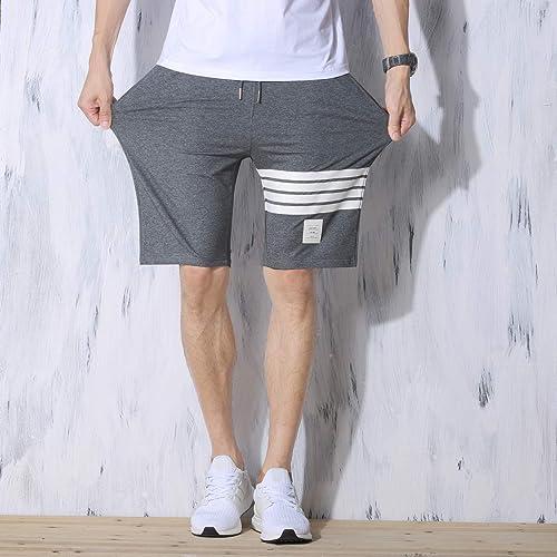 JustSun Mens Shorts Casual Classic Fit Joggers Shorts with Elastic Waist Pockets