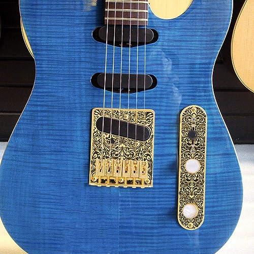 Guitar Bridge Guitar Parts Prewired Volume Control Plate Guitar Bridge With Single Coil Pickup Hole For Telecaster Guitar Fafeims Guitar Pickup Kit