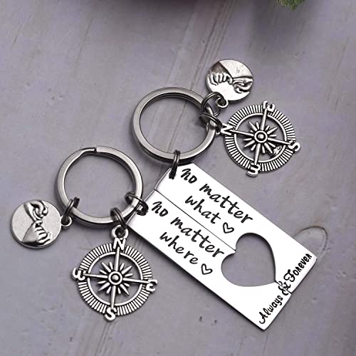 JZSTA Thank You for Always Being Here for Me Keychain Gift for Lovers Best Friends Family