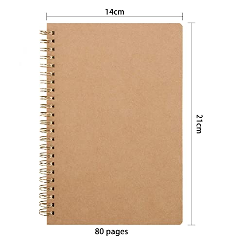 10Packs A5 Notepad 14cm//8.26 5.51Inch Kraft Cover A5 Notebooks Including 5 Blank Sketchbook and 5 Lined Page Sketchpad 30 Sheets Each 21