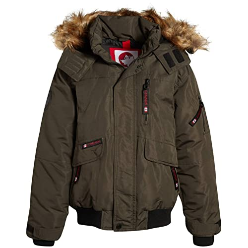 CANADA WEATHER GEAR Boys Heavyweight 3 in 1 Ski System Jacket with Removable Vest