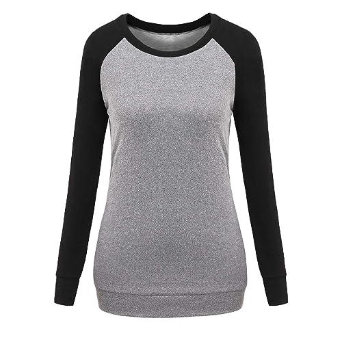 31687883b63e1a Buy FaroDor Womens Raglan Long Sleeve Lightweight Sweatshirt Casual Loose  Fit Tunic Tops with Pockets with Ubuy Kuwait. B07JR8LRY8