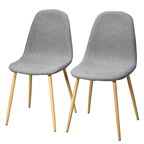 Pleasing Giantex Set Of 2 Kitchen Dining Chairs Easily Assemble Modern Fabric Cushion Seat Chair W Metal Legs Mid Century Armless Chairs For Kitchen Dining Gmtry Best Dining Table And Chair Ideas Images Gmtryco