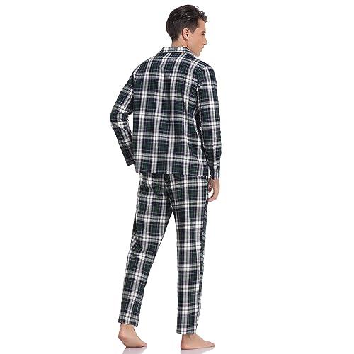 HORNE 1886 Mens Pyjamas Set Two Piece Premium Loungewear