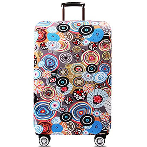 Luggage Cover Protector 3D Print Washable Spandex Travel Luggage Protector Thicken Travel Suitcase Protector Fits 18-32 Inch Luggage Washable Baggage Covers 18-21 Color : Deer , Size : S