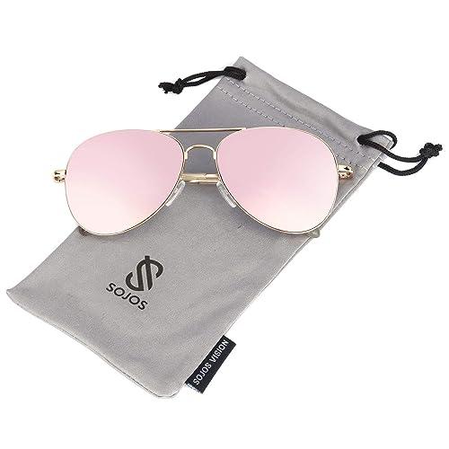 103b88aa85c6 Buy SOJOS Classic Aviator Mirrored Flat Lens Sunglasses Metal Frame with  Spring Hinges SJ1030 with Ubuy Kuwait. B01HYRH8E2
