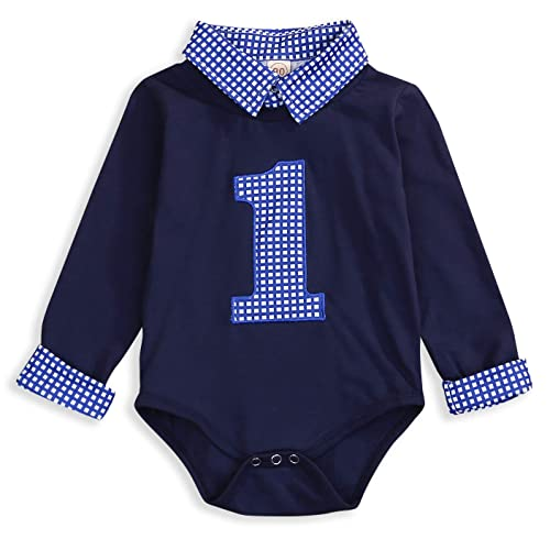 Miraculous Baby Boy First Birthday Clothes Plaid Stand Collar Long Sleeve Personalised Birthday Cards Vishlily Jamesorg