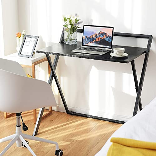"""Small Computer Desk for Home Office St... 36"""" Length Table w//Cable Organizer"""