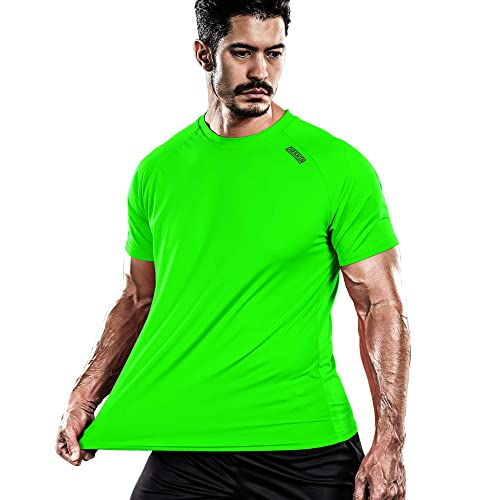 DRSKIN Mens Cool Quick Dry Sun Protection Short Sleeve Rash Guard Swim Sports Tee Shirt UPF 50+