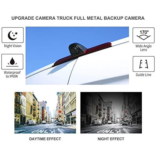 Barn Door Style Replaces Part No Dolphin Rear High Level Brake Light Reversing Parking Camera for Ford Transit Custom 2012 1816872 May 2016 Bulb Version