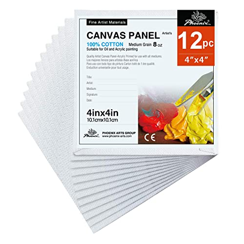 11x14 Inch 8x10 24 pcs in Total Students /& Kids PHOENIX Painting Canvas Panel Boards Multi Pack 6 Pack Each of 5x7 - 1//7 Inch Deep Super Value Pack for Professional Artists 9x12