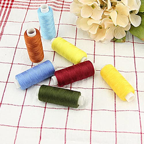 BUZIFU Sewing Thread Polyester Strong for Machine Hand Stiching 30 Assorted...