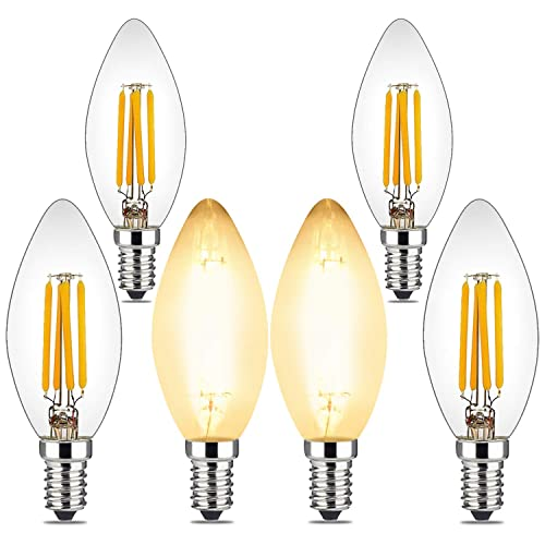 Sunco Lighting 6 Pack T10 LED Bulb 5W=40W Outdoor Decorative String Light Dusk-to-Dawn E26 Base Vintage Filament Bulb 2700K Soft White 450 LM UL