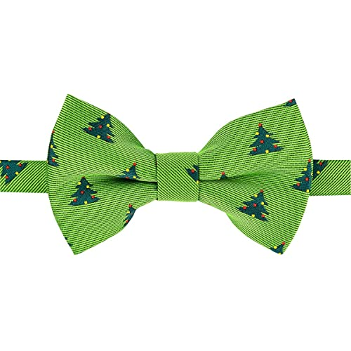 Retreez Christmas Tree and Snowflakes Woven Pre-tied Boys Bow Tie