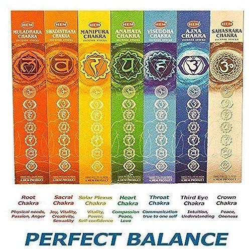 Seven Chakras Incense 35 Stick Pack Hem 7 Chakras Meditation-Yoga Incense