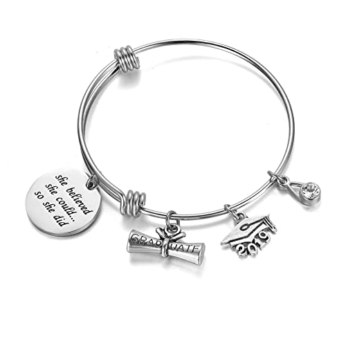 bf1a321b4 AZORA Inspirational Bracelet for Women Stainless Steel Cuff Bangle Mantra  Quote Keep Going Message Engraved Uplifting