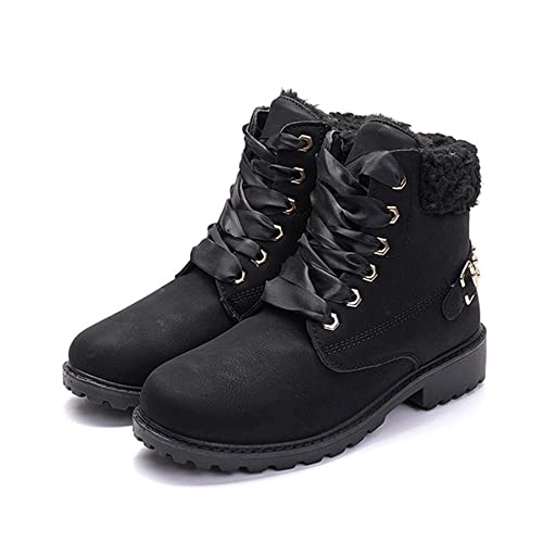 WOMENS LADIES GIRLS NEW DESERT FAUX FUR LINED WALKING ANKLE BOOTS HIKER SHOES