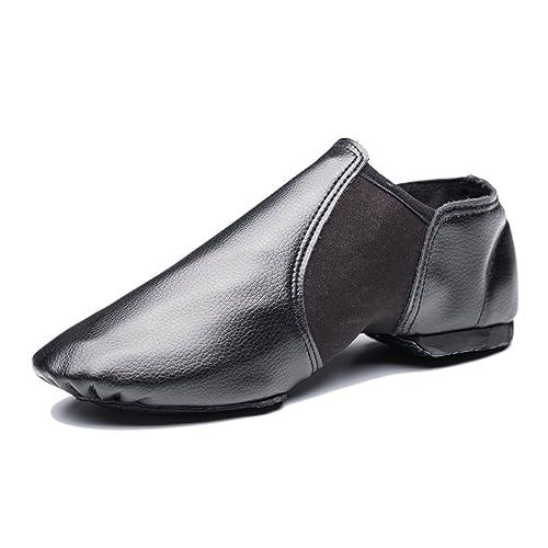 Mrsdressshop Unisex Leather Upper Jazz Ballets Shoe Slip-on for Adults,Women,Men Gymnastics,Dancing,Ballroom