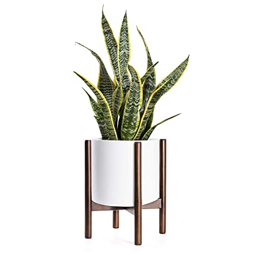Indoor Flower... Mid Century Wood Plant Stand Holder for Planters Up to 10 Inch