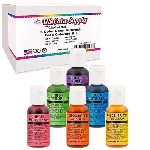 Buy 6 Color Cake Food Coloring Liqua-Gel Decorating Baking ...