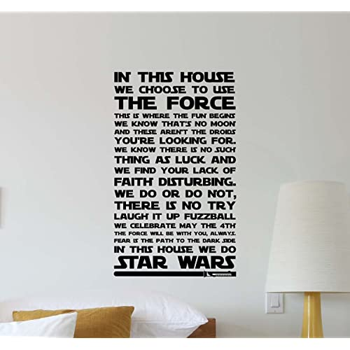 Buy In This House We Do Star Wars Wall Decal Quote Movie Inspirational Sayings Lettering Vinyl Sticker Motivational Gift Kids Room Home Bedroom Decor Art Poster Mural Custom Print Online In Kuwait