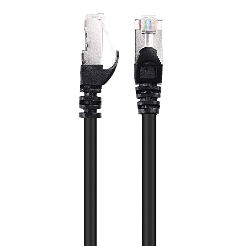 Shielded Ethernet Cable in Black 125 ft SSTP, SFTP Cable Matters Snagless Long Cat6A