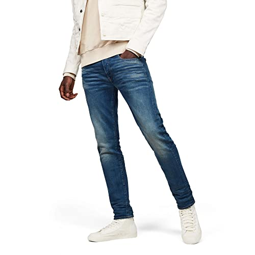 New+ G-Star Men Jeans 3301 Tapered W34//L32 Light Aged Nippon Stretch Denim
