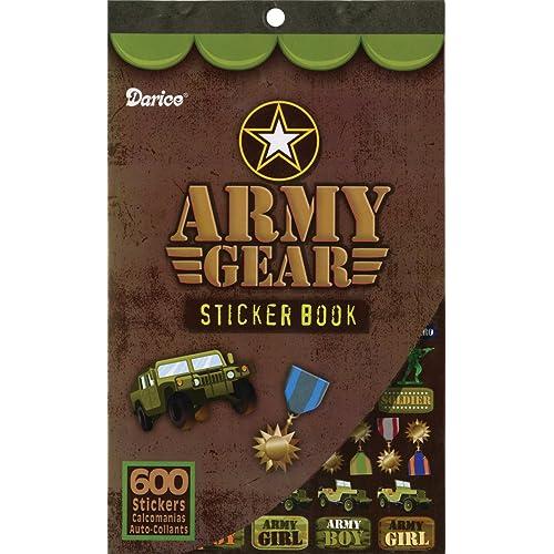 Sticker Book 9-1//2X6-Army Gear-600 Stickers GRINDATTI SG/_B0071IKEGE/_US