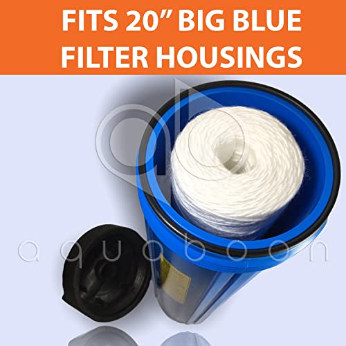 Compatible with PC40-20 Pack of 2-1 Micron 20 Big Blue String Wound Sediment Water Filter Cartridge 355222-45 WPP-45200-01 WP1BB20P 84650 Whole House Sediment Filtration WPP-45200-01