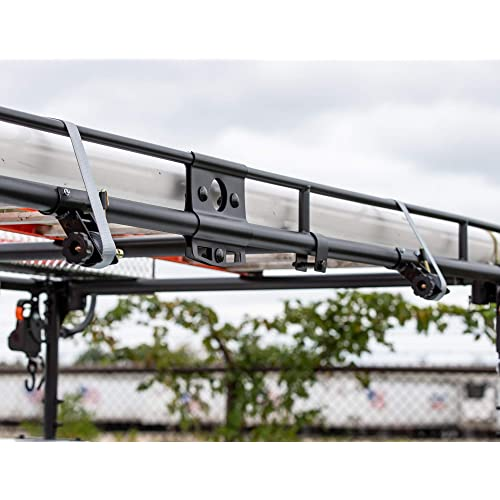 Qty 4 Buyers Products 5480007-x2 Tube Mount Ladder Rack Ratchet Tie Down Straps
