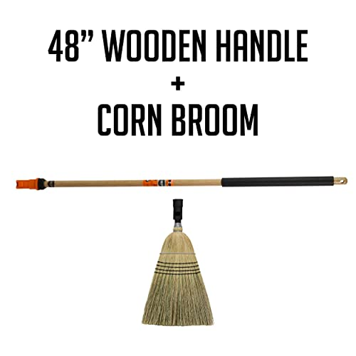 """SWOPT 60"""" Premium Wood Interchangeable Handle – Wood Handle for Cleaning Heads Unique Design Eliminates Loose Handles – Interchangeable with Other SWOPT Products for More Efficient Cleaning and Storage Cleaning Heads Sold Separately 5125C6 Handle Only"""