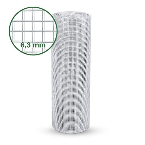 Silver 0.50m x 10m casa pura Length and Height Selectable 13 mm Hexagonal Wire Mesh