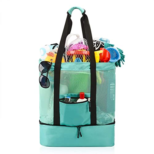 e1b6e1042b05 Buy Mesh Beach Tote Bag, Large Beach Travel Tote Cooler Bag with ...