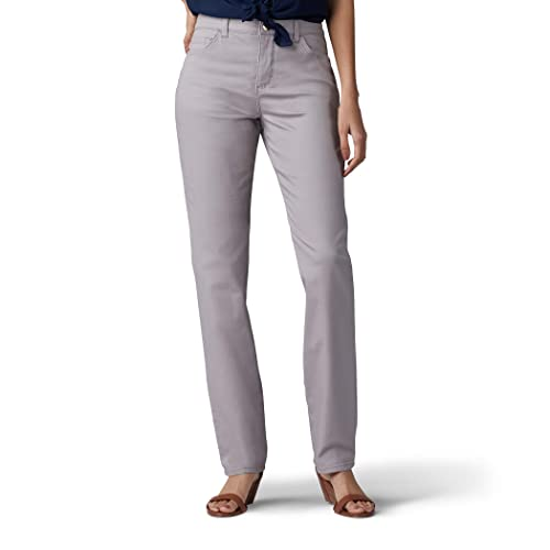 653ee9d8 LEE Women's Tall Instantly Slims Classic Relaxed Fit Monroe Straight Leg  Jean