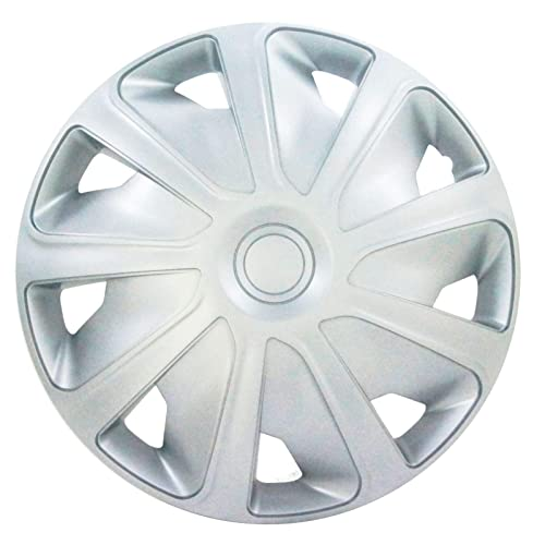 UKB4C 4x Silver 15 Inch Deep Dish Van Wheel Trims Hub Caps For Citroen Relay