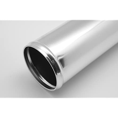 45 Degree Chrome Polish fits for Intercooler Pipe Intake Pipe OD 1.34 and Universal Use Autobahn88 Aluminum Alloy Pipe 34mm 300mm L 12