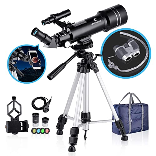 MAXLAPTER Telescopes for Astronomy for Kids and Teenagers Beginners Smartphone Adapter /… Portable Equipped with Tripod 400//70mm