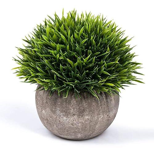 MIHOUNION 4 Bundles Artificial Plastic Plants Aglaia Odorata Lour Evergreen Shrubs Outdoor UV Stable Subtropical Green Bushes Home Garden Tabletop Floral Arranging Decor