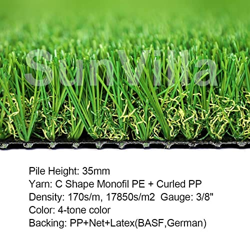 """1 3//8/"""" Height Customized 10 Years Warranty ALTRUISTIC Artificial Grass 1ft x 14ft Outdoor D/écor 14 Square Feet Realistic Fake Grass Deluxe Turf Synthetic Thick Lawn Pet Turf"""